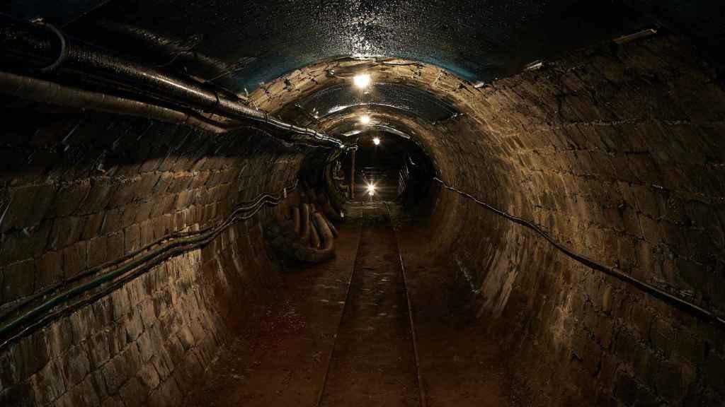 El interior de una mina.