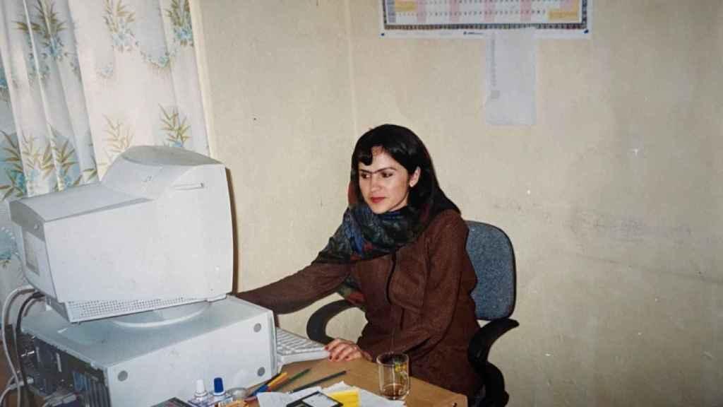 Fawzia durante su época de estudiante.