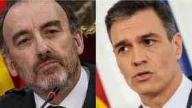 Manuel Marchena (izqda) y Pedro Sánchez./