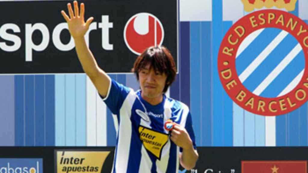 Shunsuke Nakamura, en su presentación con el Espanyol