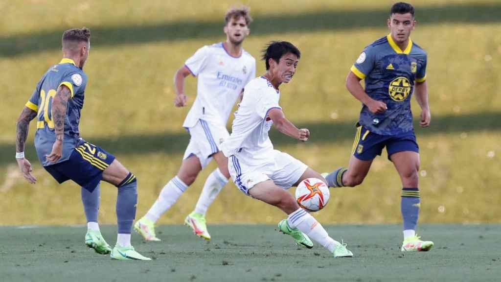 Takuhiro Nakai 'Pipi', en un partido con el Real Madrid Castilla