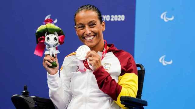 Teresa Perales, con la medalla de plata de Tokio 2020