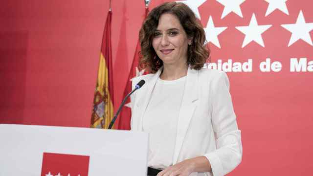 La presidenta de la Comunidad de Madrid, Isabel Díaz Ayuso, en rueda de prensa posterior al Consejo de Gobierno.