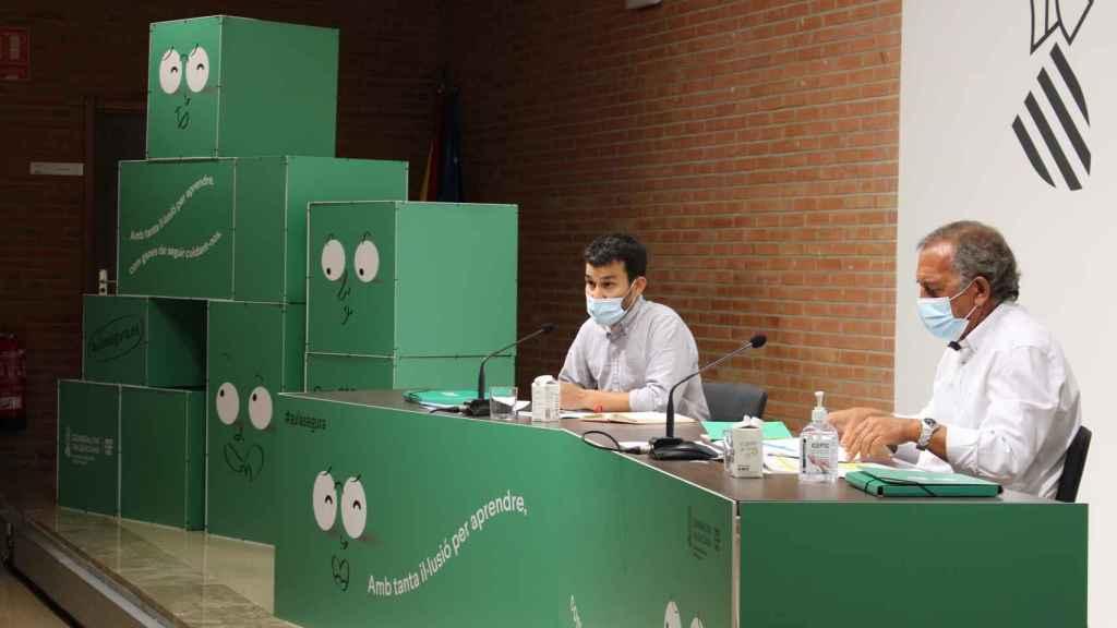 Vicent Marzà y Miquel Soler, en la presentación del nuevo curso escolar.