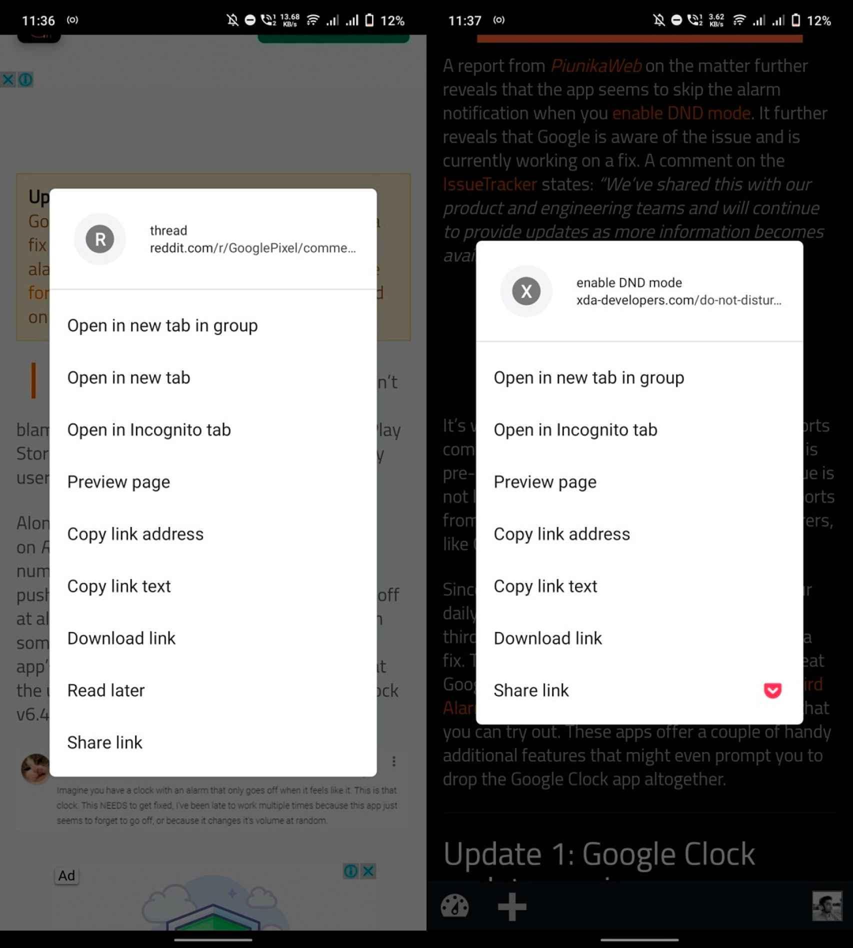 Gestión de pestañas en Chrome Beta / Gestión de pestañas anterior
