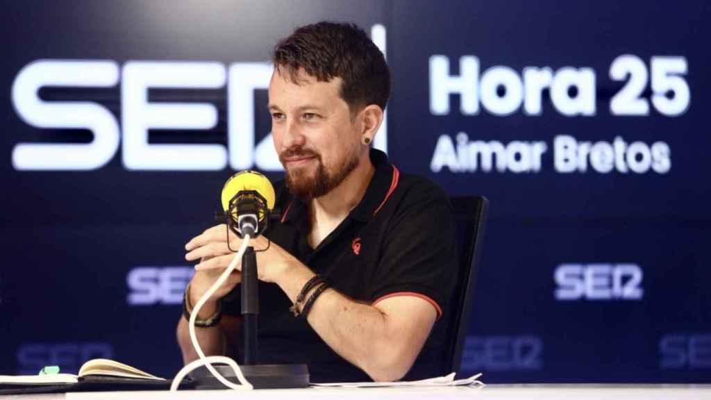 Pablo Iglesias, durante el debate organizado por la Cadena Ser.