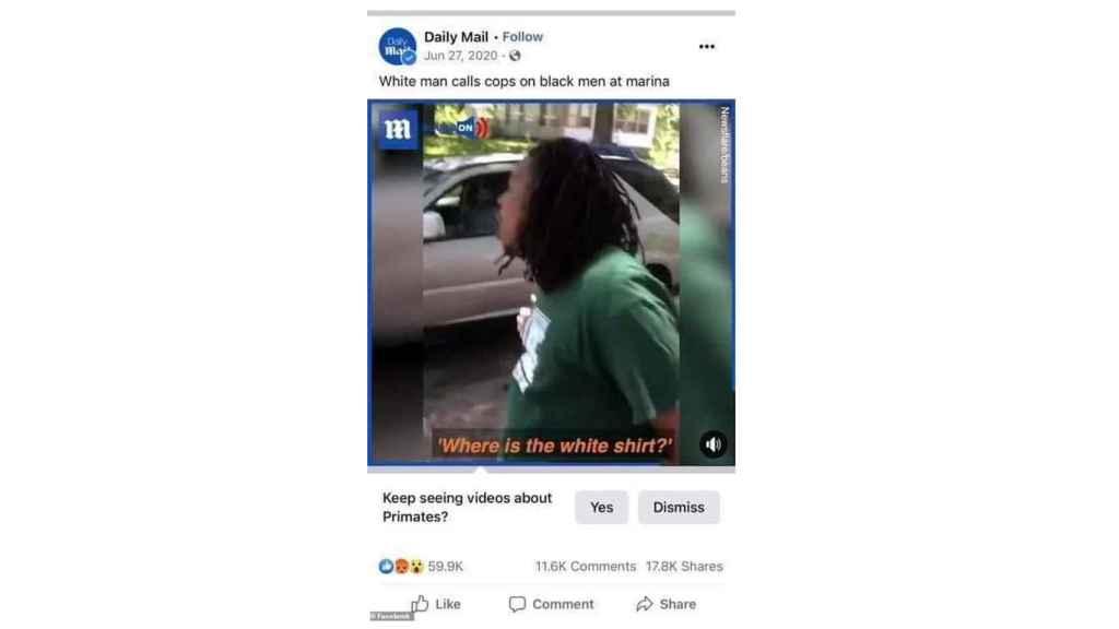 Error de Facebook racista