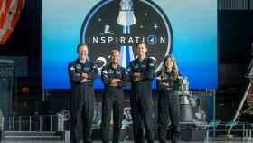 Los protagonistas de 'Cuenta atrás: La misión espacial Inspiration4'.