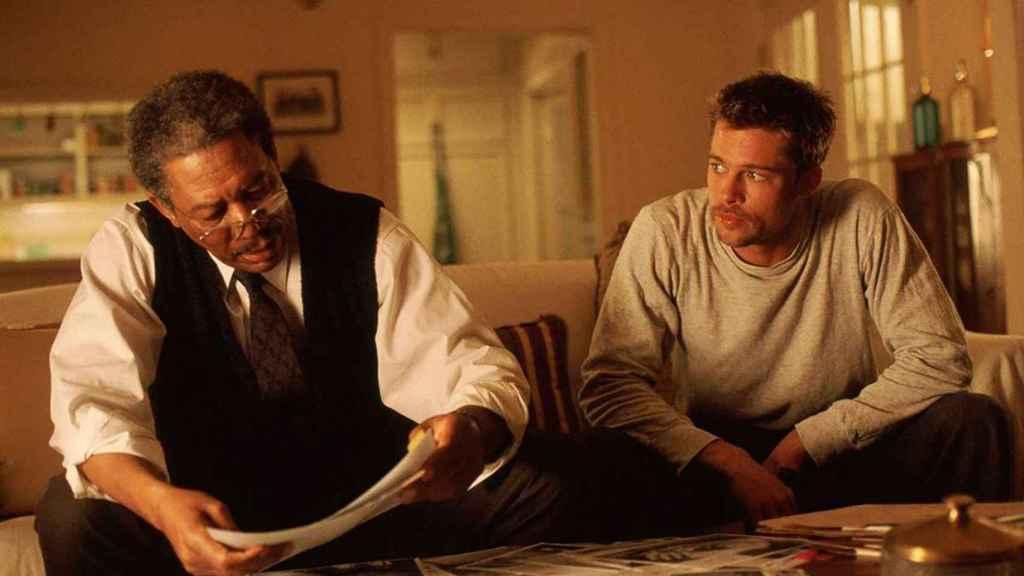 'Seven', starring Morgan Freeman and Brad Pitt.