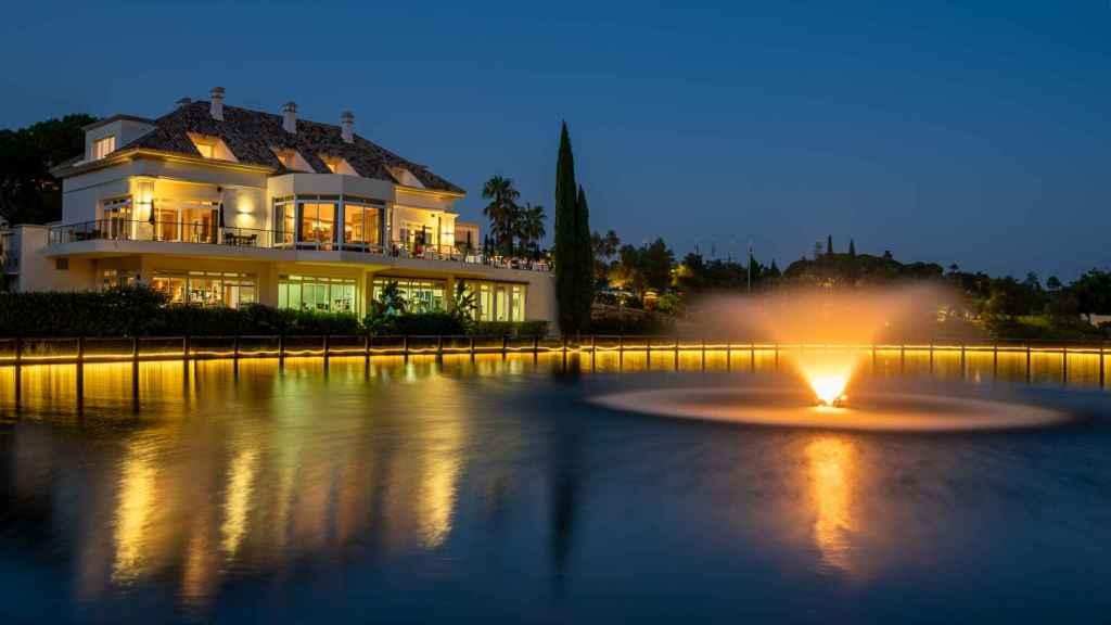 Imagen de la terraza de El Lago, en Marbella.