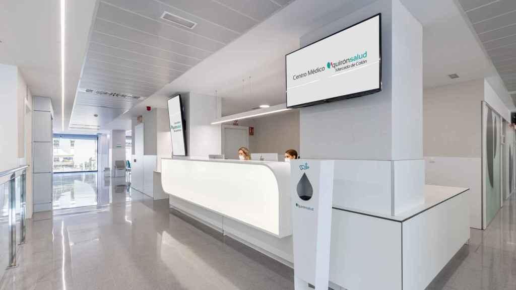 Recepción Centro Médico Mercado de Colón, Valencia.