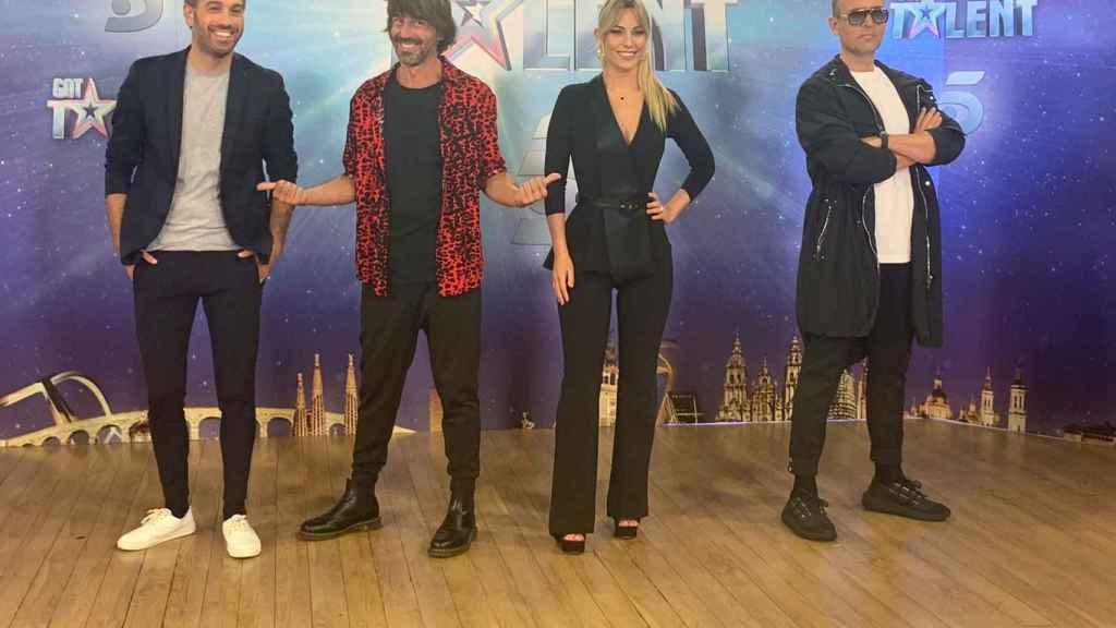 Dani Martínez, Santi Millán, Edurne y Risto Mejide en la presentación de 'Got Talent'.