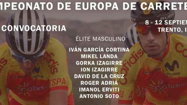 Selección de España para el campeonato de Europa de Ciclismo en carretera
