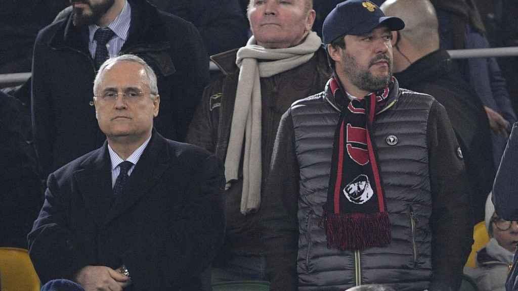 Claudio Lotito, dueño de la Salernitana, en un partido de la Lazio