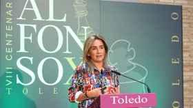 La alcaldesa de Toledo, Milagros Tolón, ha presentado el Septiembre Cultural de Toledo. Fotos: Ó. Huertas.