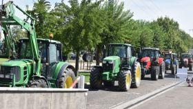 Manifestación de ganaderos en Talavera de la Reina