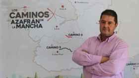 Santiago Alberca, presidente de 'Los Caminos del Azafrán de La Mancha'