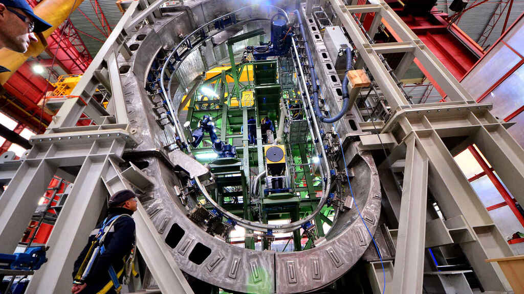 Maqueta a tamaño natural que ENSA montó en su sede para los ensayos.