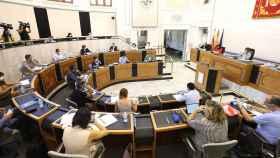 Pleno de la Diputación de Alicante, donde se ha rebajado por segundo año el IAE.