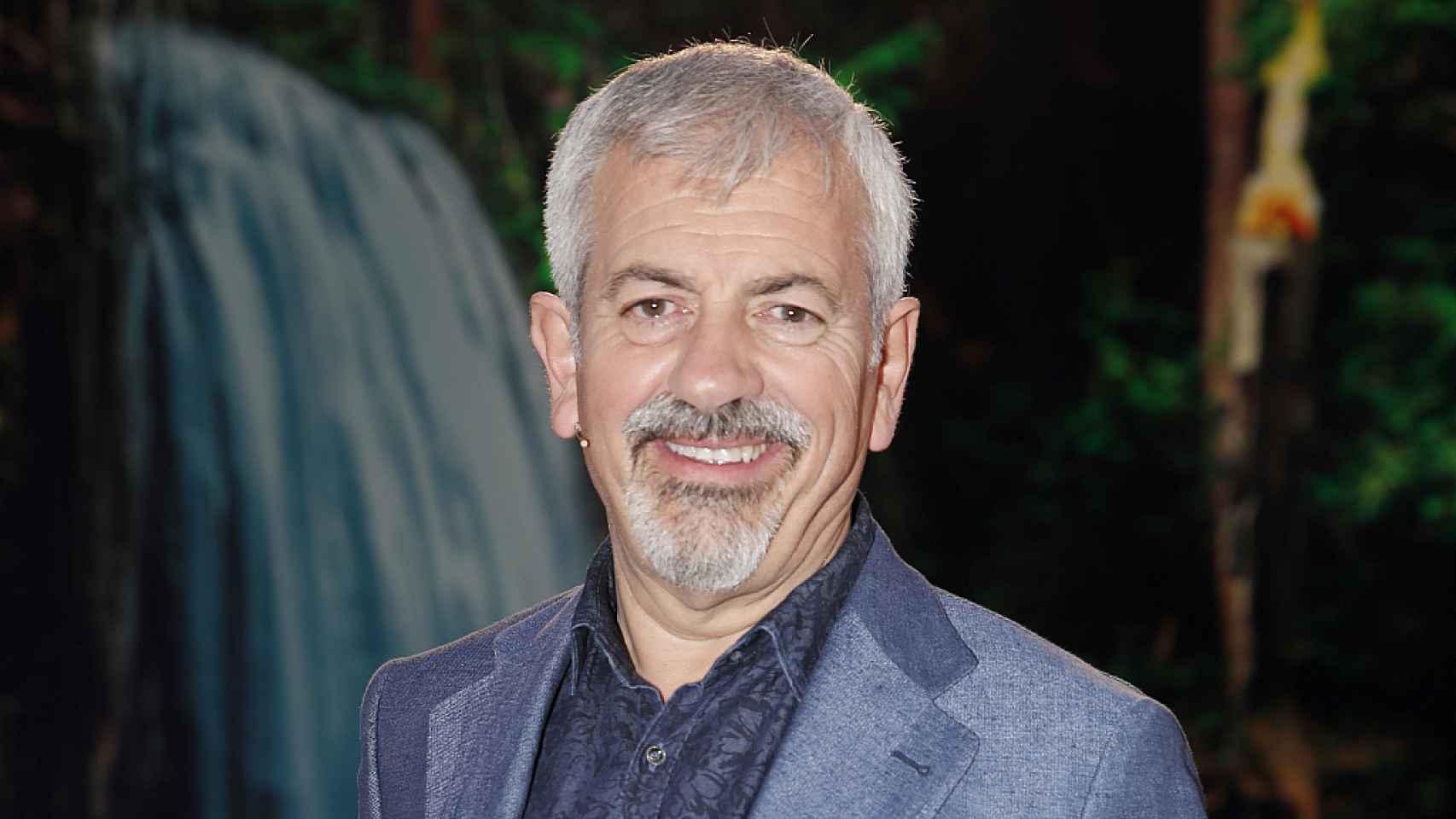 Carlos Sobera en el plató de 'Supervivientes'.