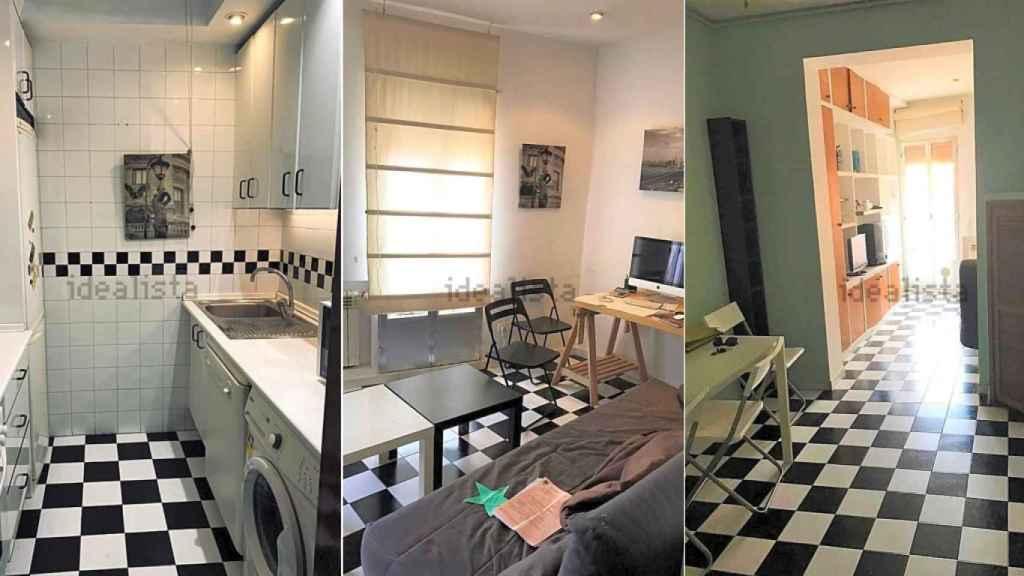 Certaines des pièces de l'appartement qui est devenu le studio d'Antonio Pardo.