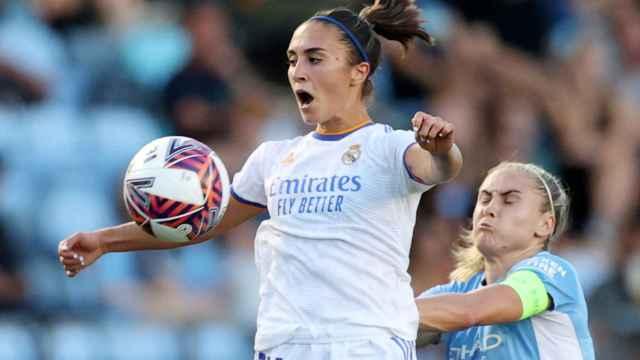 Nahikari García, en el Manchester City - Real Madrid Femenino