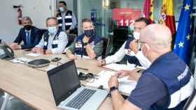 El presidente regional, Emiliano García-Page, presidió la reunión del Meteocam ante las incidencias por la tormenta