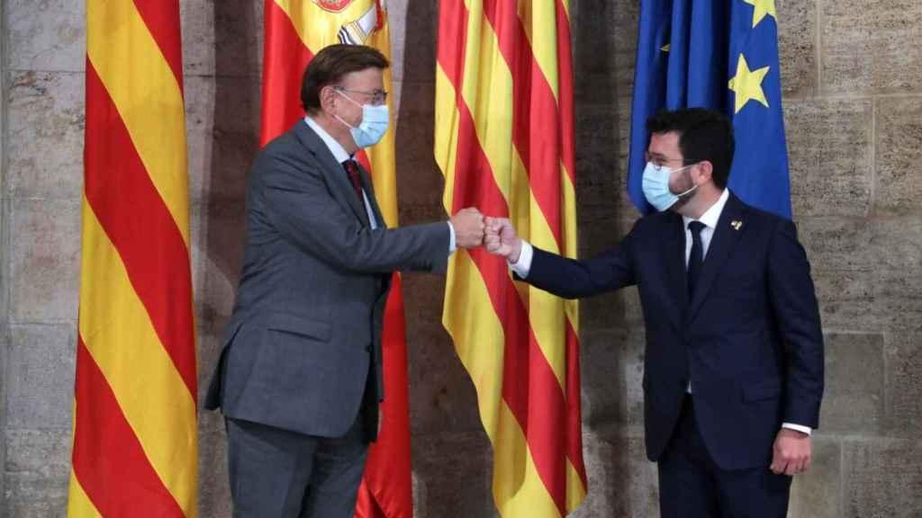 Ximo Puig acuerda con Aragonès dar acceso a TV3 dentro de las aplicaciones de la tele valenciana