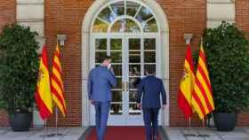 El presidente del Gobierno, Pedro Sánchez, y el president de la Generalitat, Pere Aragonès.