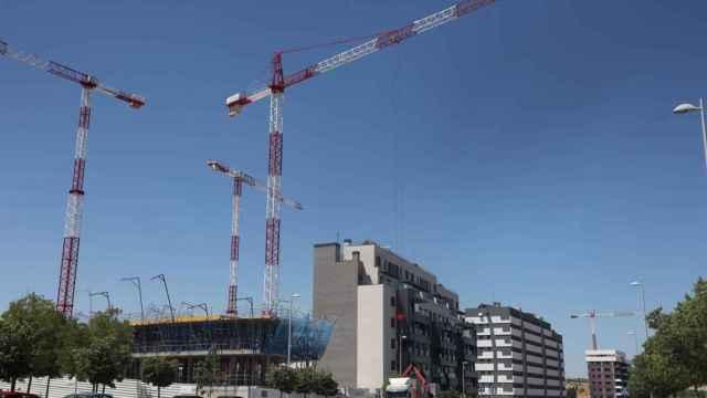 Construcción de una promoción de viviendas en Málaga.