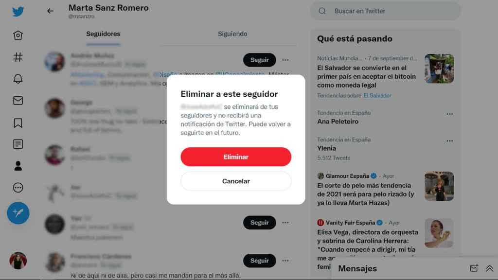 Twitter bloqueo suave