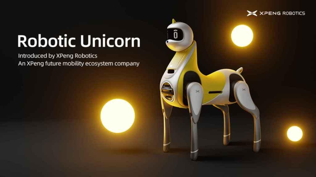 Un robot unicornio como vehículo para niños.