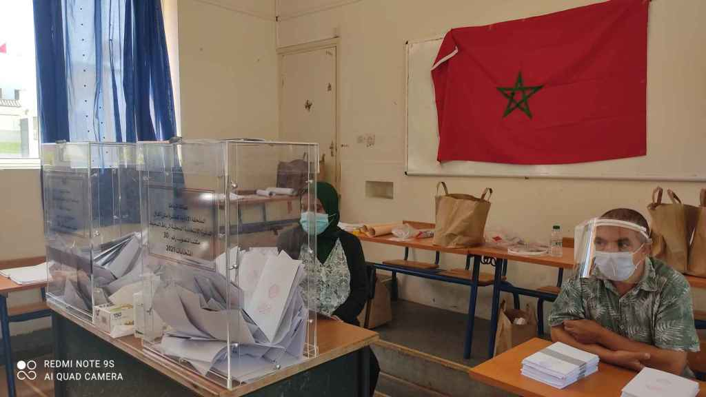 Un colegio de Marruecos durante la jornada electoral.