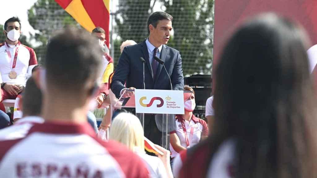 Pedro Sánchez, en el homenaje a los olímpicos y paralímpicos de Tokio 2020