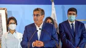 Aziz Akhanouch, tras su triunfo electoral.