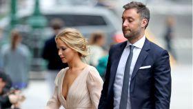 Jennifer Lawrence y Cooke Maroney en las calles de Nueva de York.