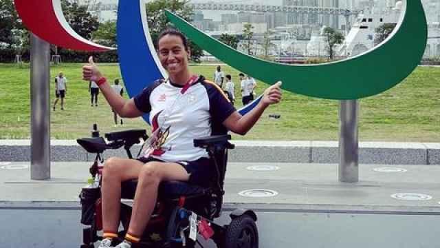 Teresa Perales, durante los Juegos Paralímpicos