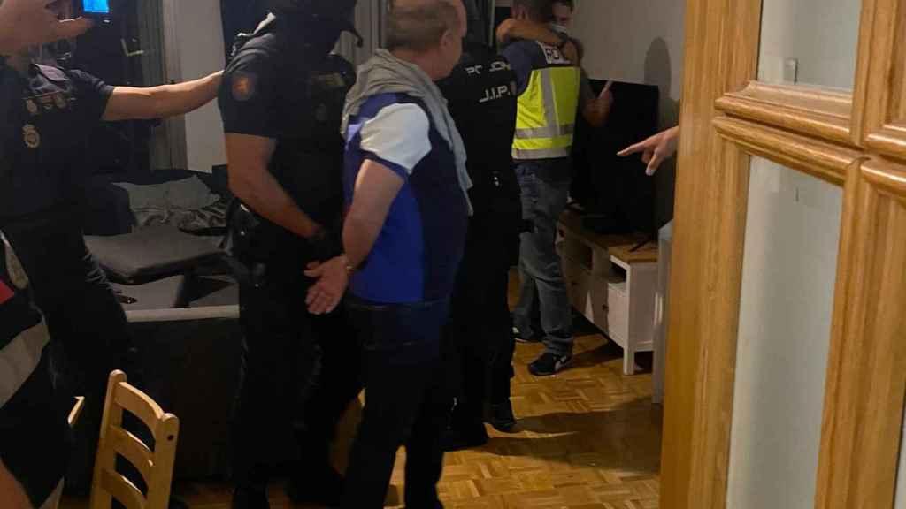 'Pollo' Carvajal tras ser detenido por la Policía Nacional este jueves.