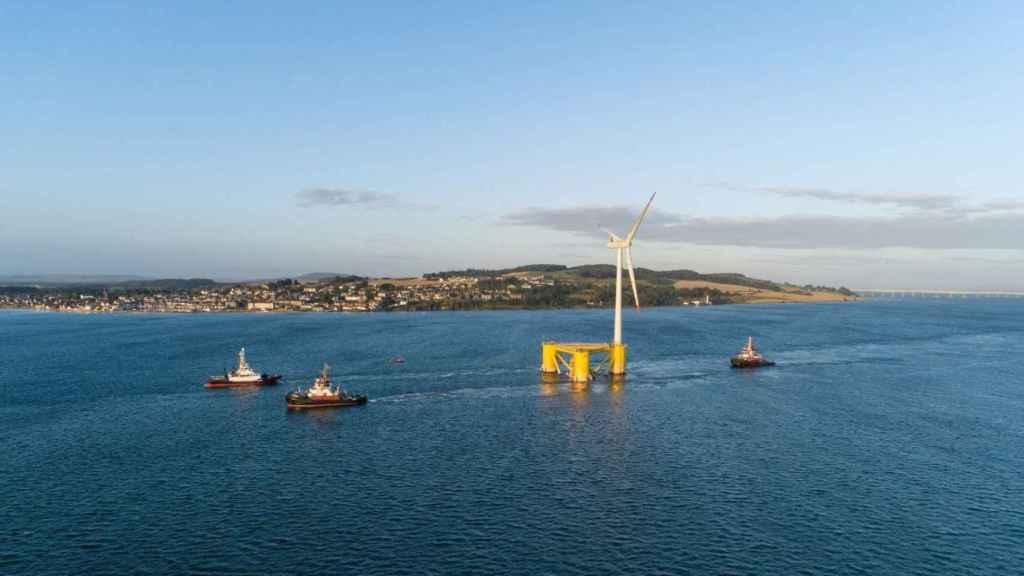 Cobra (ACS) finaliza en Escocia el proyecto eólico marino flotante más grande del mundo