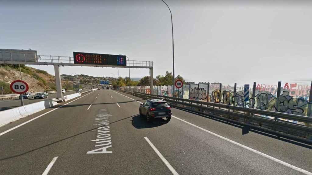 Imagen de uno de los radares instalados en las carreteras de Málaga.