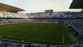 La Rosaleda en el primer partido de la temporada.