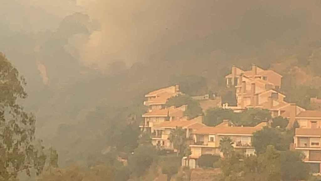 Imagen de uno de los focos del incendio.