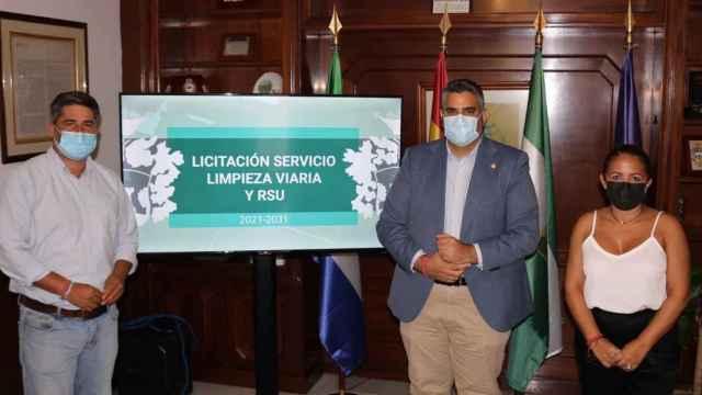 Representantes del equipo de gobierno en el Ayuntamiento de Mijas.