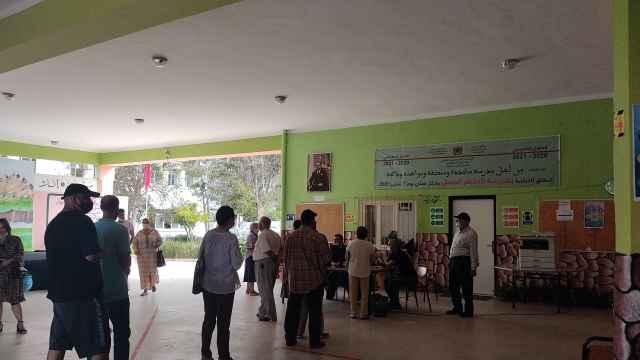Jornada electoral en un colegio de Marruecos.