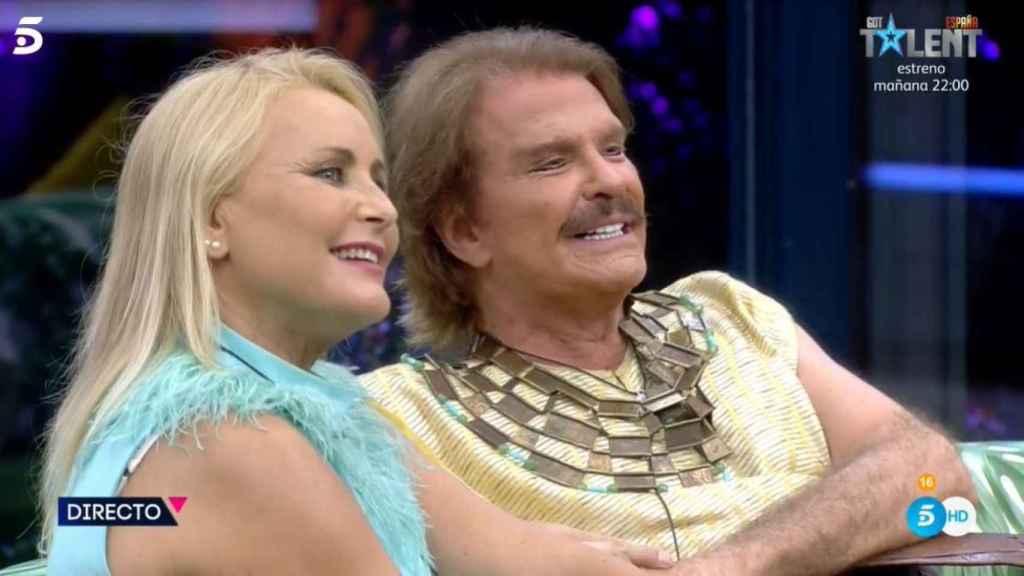 Bigote junto a Lucía Pariente en el estreno.