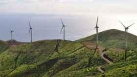 Parque eólico en España.