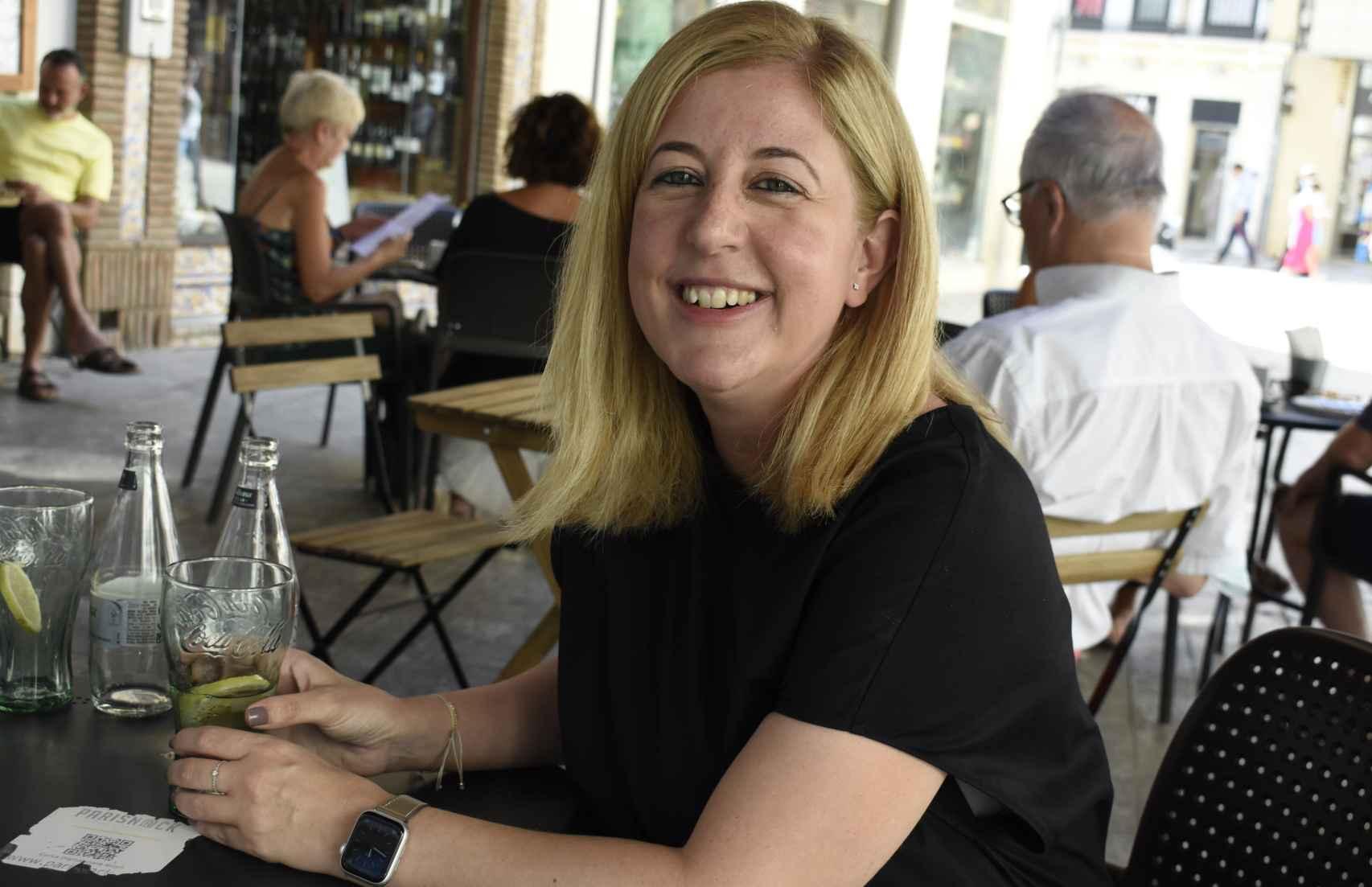 La gerente de la Fundación Pérez Estrada, durante la entrevista.