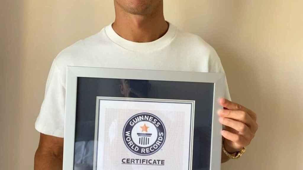 Cristiano Ronaldo, wearing a smile on his Instagram profile.
