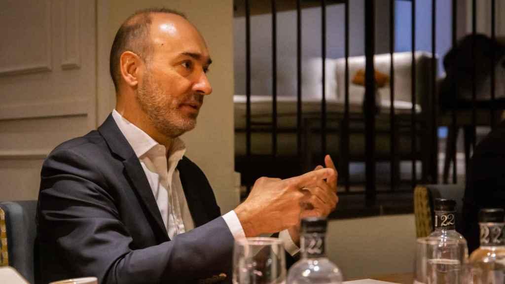 Francesc Noguera, consejero delegado de Altamira, durante la entrevista con Invertia-EL ESPAÑOL.