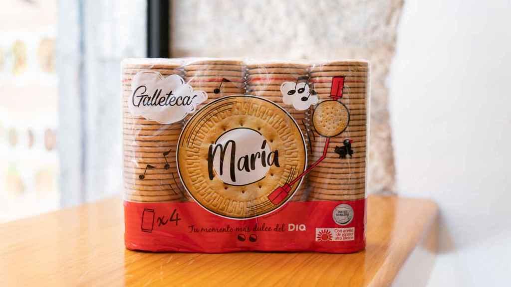 El paquete de galletas María de Dia.